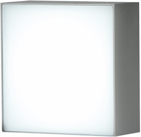 Downlight LED empotrable cuadrado para pared IP54. Led 1W blanco cálido
