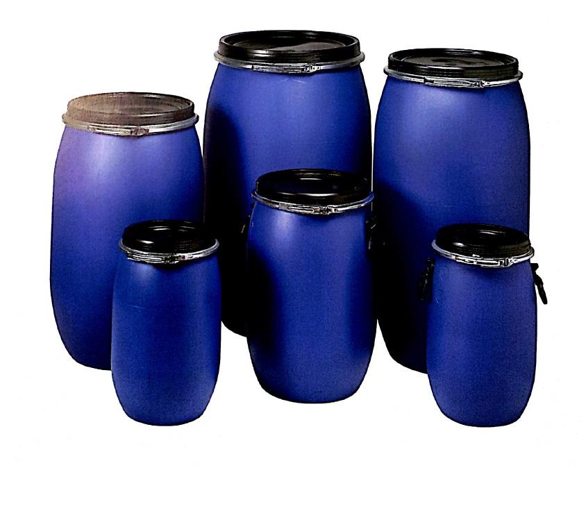 Bidones de pl stico apertura total 120 l uso alimentario for Bidones para agua