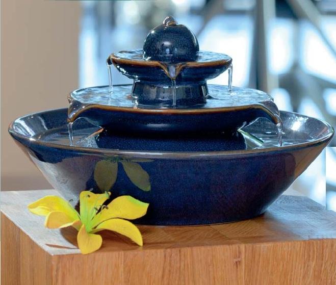 Fuente zen feng shui de agua ceramica decorativa pisa for Fuente agua feng shui