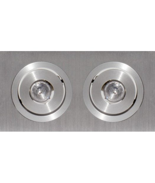 Downlights LED empotrables techo. LUXEON LED Blanco 1,2Wx2 (350m